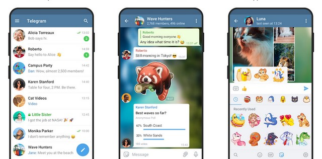Telegram Messenger - alternative à iMessage pour Android