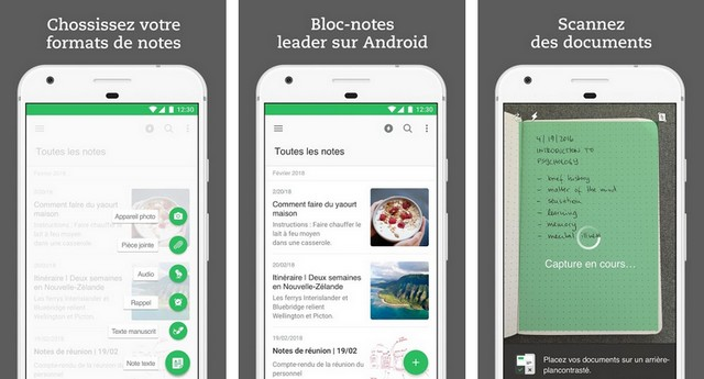 Evernote - application pour Samsung Galaxy S10