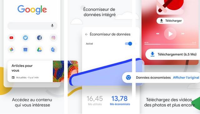 Google Chrome - application pour Samsung Galaxy S10