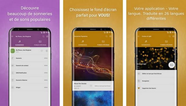 Sonneries Populaires - meilleur application de sonnerie pour Android