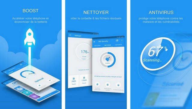 360 Security - Application de nettoyage Android