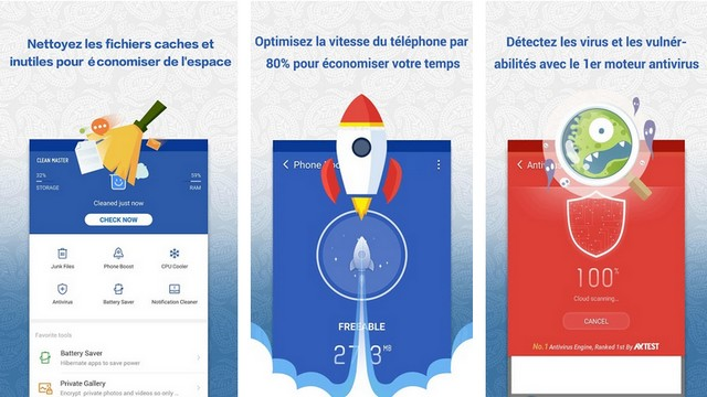Clean Master - Application de nettoyage Android