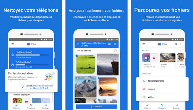 Files by Google - Application de nettoyage Android