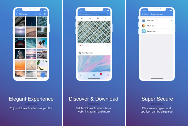 GalleryVault - application to hide your photos