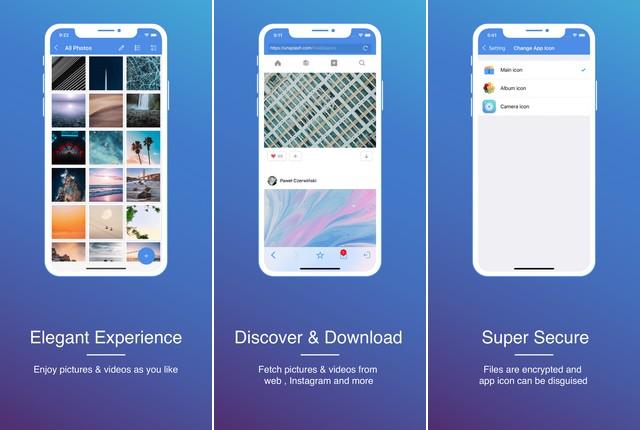 GalleryVault - application pour cacher vos photos