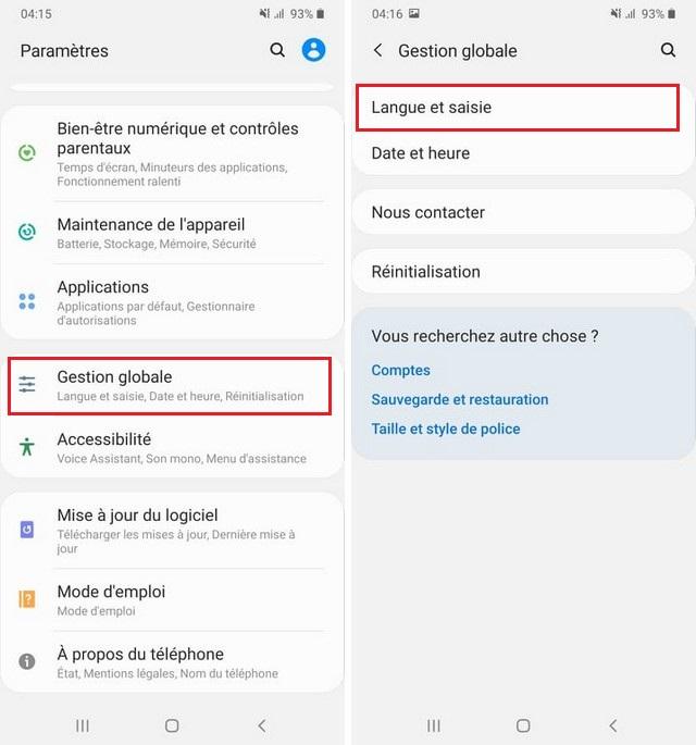 La correction automatique sur Samsung Galaxy A51