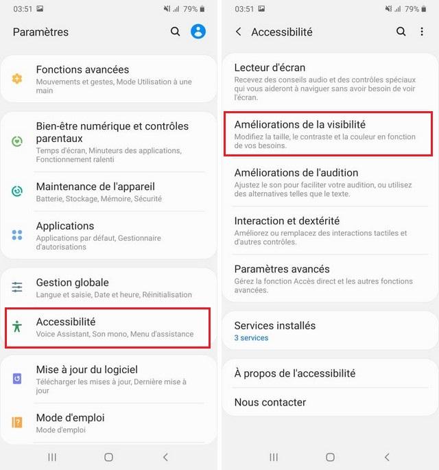 Activer Polices à contraste élevé sur Galaxy Note 10