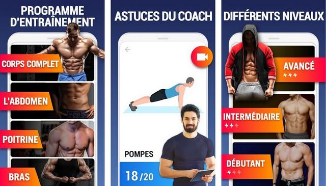 Exercices à la maison - application entraînement à domicile