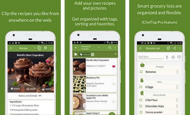 ChefTap - application de planification de repas