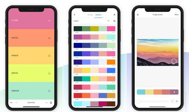 Coolors - application de conception graphique pour iPhone
