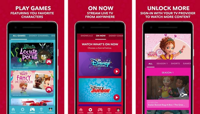 DisneyNOW - meilleur application Disney pour Android