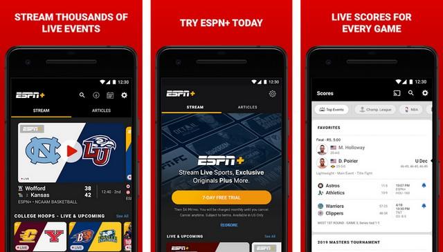 ESPN - meilleur application de baseball pour Android