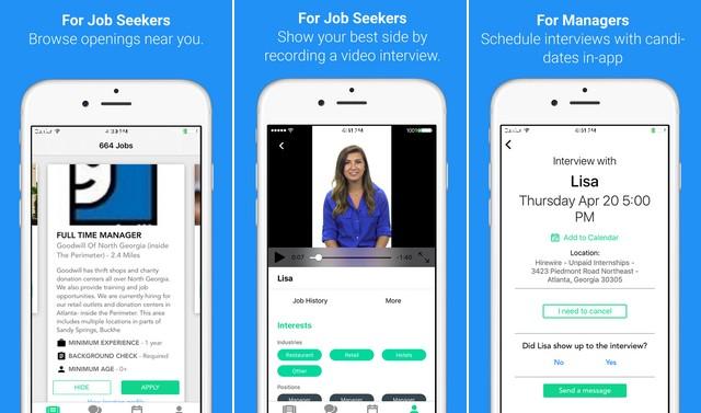 Hirewire - application de recherche emploi pour iPhone