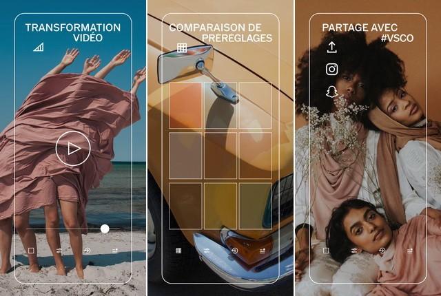 VSCO - application de montage vidéo Instagram