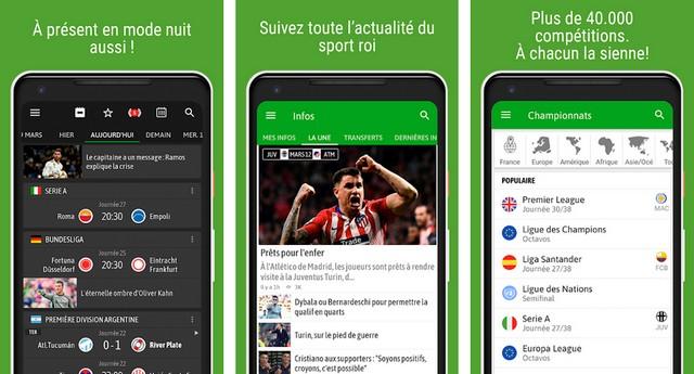 BeSoccer - meilleure application de football européen