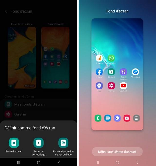 Comment changer le fond écran Samsung A20
