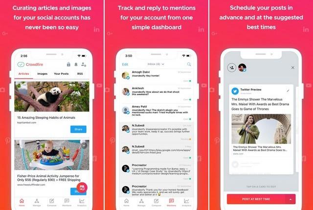 Crowdfire - meilleur client Twitter pour iPhone