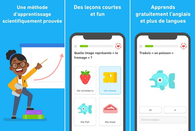 Duolingo - application iPhone pour apprendre une langue
