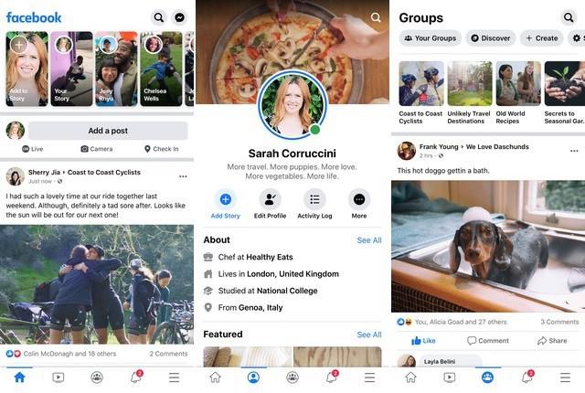 Facebook - application de réseaux sociaux pour iPhone