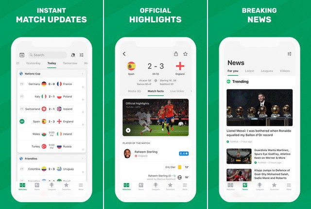 FotMob pour iPhone - application de football européen