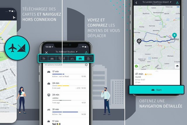 HERE WeGo - meilleure application GPS pour iPhone