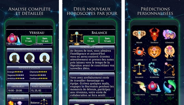 Horoscope Argent et Travail - meilleures applications pour Android