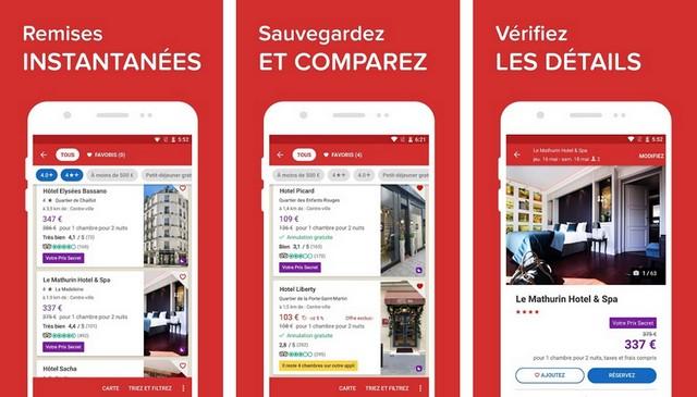 Hotels.com - meilleure application pour réserver des hôtels
