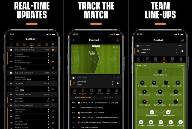 LiveScore - application de football européen