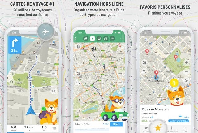 MAPS-ME - meilleure application GPS pour iPhone