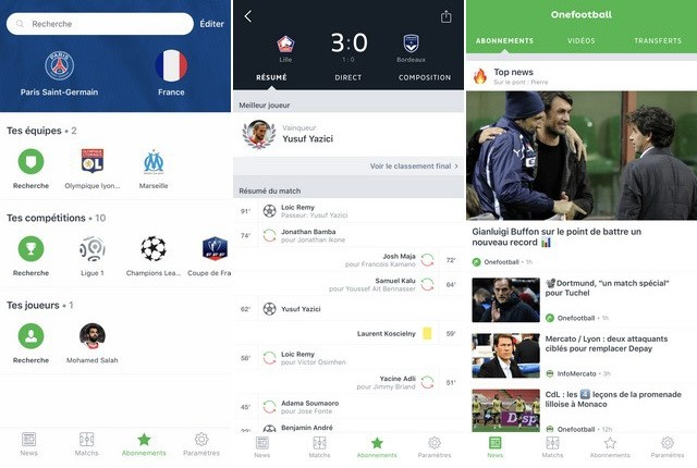 Onefootball - application de football européen