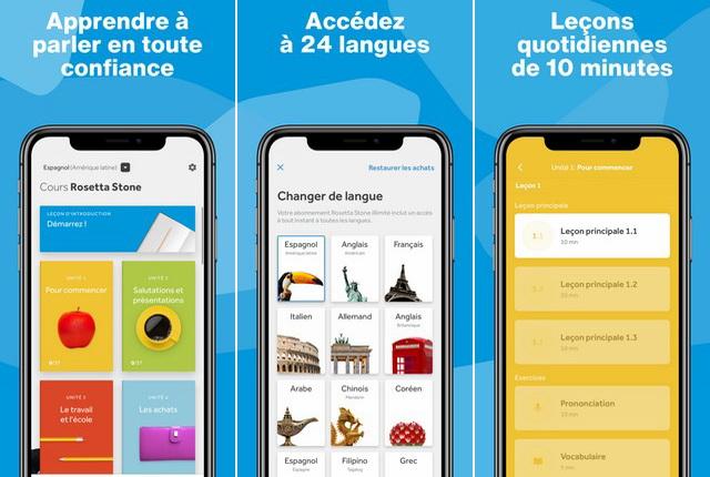 Rosetta Stone - application iPhone pour apprendre une langue