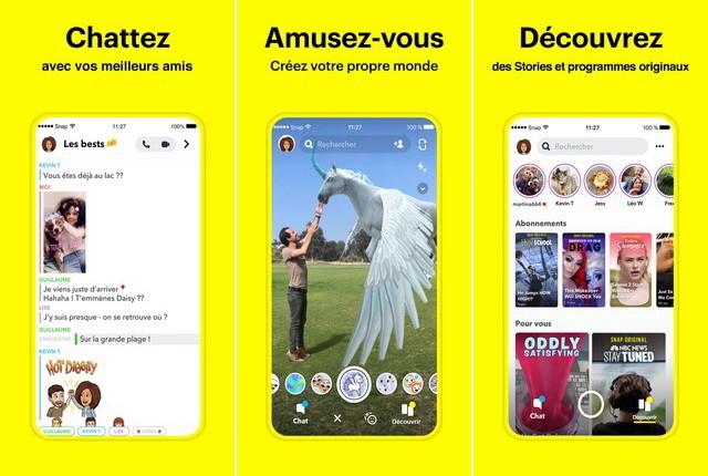 Snapchat - application de réseaux sociaux pour iPhone