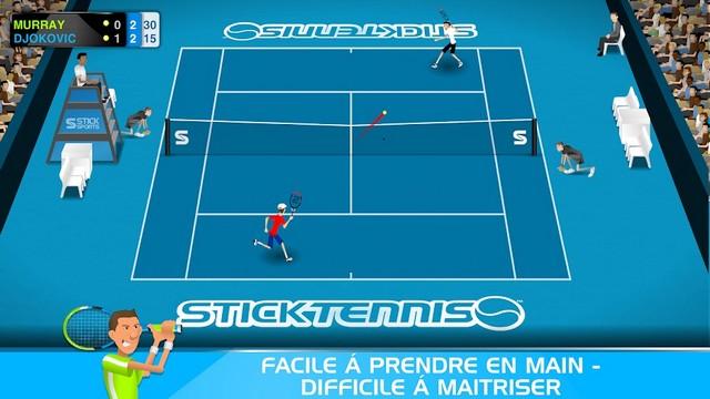 Stick Tennis - meilleur jeu pour Android