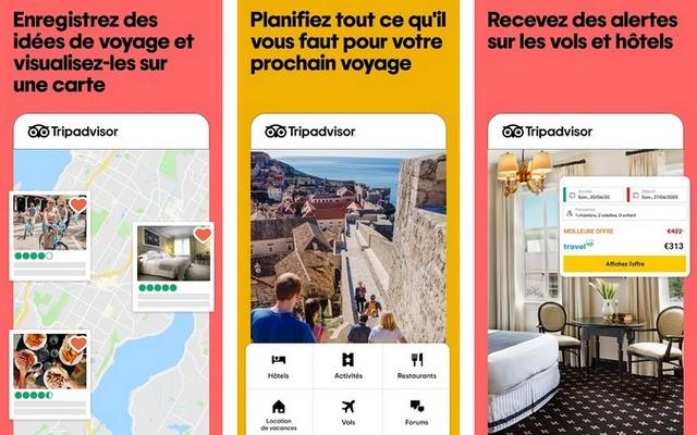 Tripadvisor - meilleure application pour réserver des hôtels