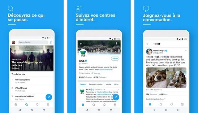 Twitter - meilleure application de réseaux sociaux