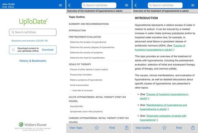 UpToDate - meilleure application médicales pour iPhone
