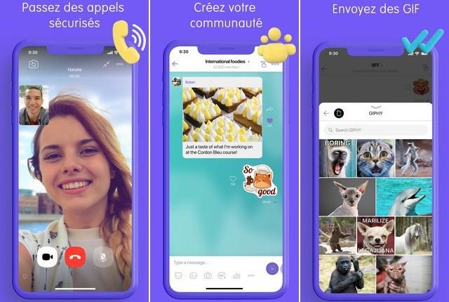 Viber Messenger - application de réseaux sociaux pour iPhone