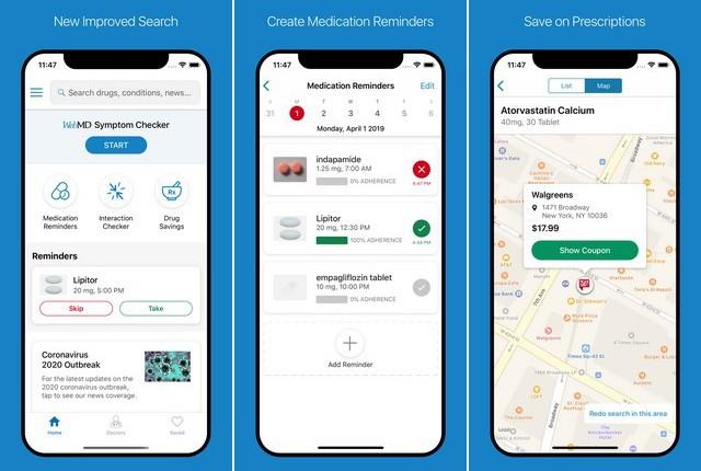 WebMD - meilleure application médicales pour iPhone