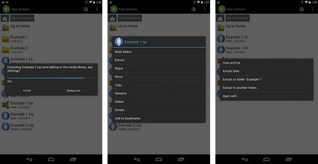 XZip - meilleure application de décompression pour Android