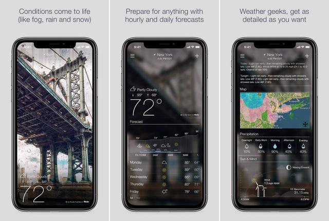 Yahoo Weather - best travel app