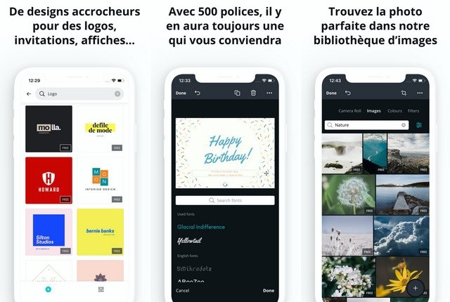 Canva - application de création de logo