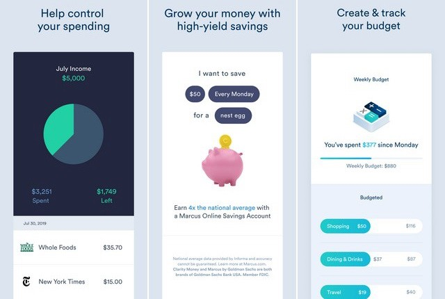 Clarity Money - App iOS per gestire il tuo budget