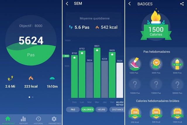 Compteur de pas et de calories