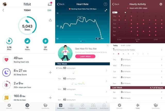 Fitbit - meilleure application podomètre pour iPhone