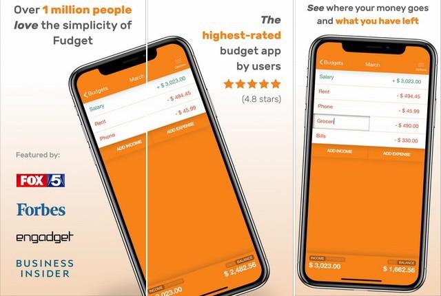 Fudget - application iOS pour gérer son budget