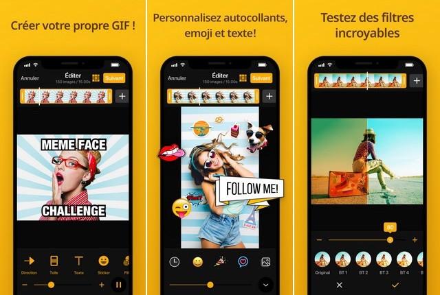 ImgPlay - le meilleure application de création des GIF
