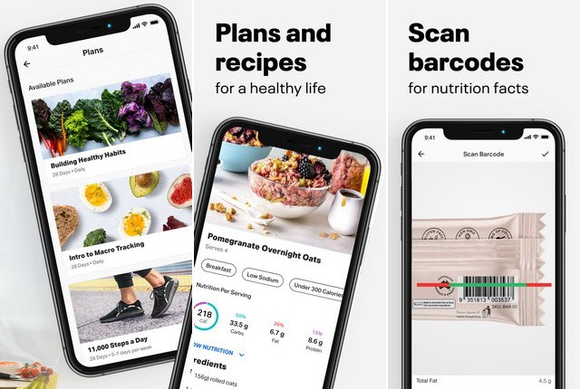 MyFitnessPal - meilleure application podomètre pour iPhone