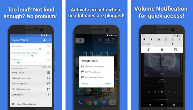 Precise Volume - application pour augmenter le volume