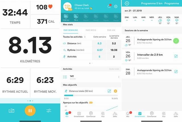 Runkeeper - meilleure application podomètre pour iPhone