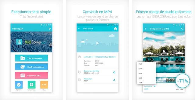 VidCompact - meilleur compresseur vidéo pour Android